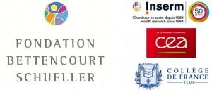 Logos Inserm/Cea/Fondation Bettencourt Schueller/Collège de France