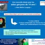L'étude Ados-Maths/Langage
