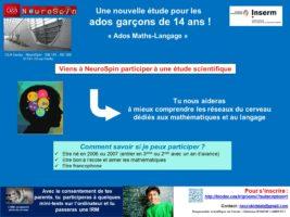 affiche recrut ados maths langage